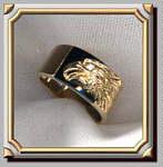 Eagle Onyx Ring