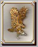 Eagle Salmon Pendant