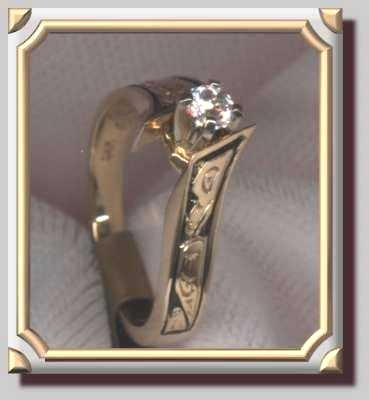 Eagle Raven Diamond Ring Twotone set
